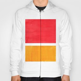 Colorful Bright Minimalist Rothko Color Field Midcentury Bright Red Yellow Squares Vintage Pop Art Hoody