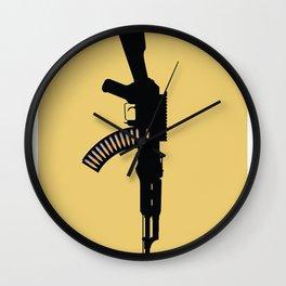 Art Not War - Yellow Wall Clock