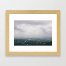 Top of the mountain Framed Art Print
