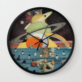 Children of the Sun and Moon Wall Clock