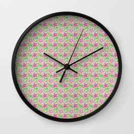 Floral Seamless Pattern Wall Clock