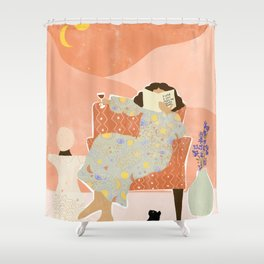A Wine a Day Shower Curtain