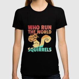 Squirrel Striped Squirrel Retro chipmunk T-shirt