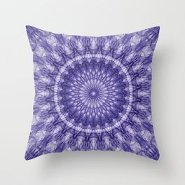 Delicate plum mandala Throw Pillow