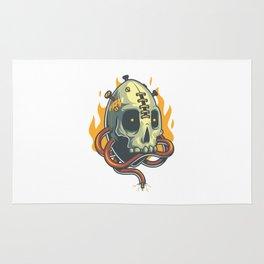 Skull Fire Rug