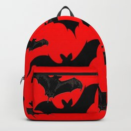 HALLOWEEN BATS ON BLOOD RED DESIGN Backpack