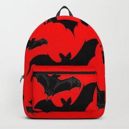 HALLOWEEN BATS ON BLOOD RED DESIGN Backpack