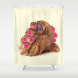 CURLY GUINEA PIG Shower Curtain