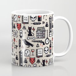 Edgar Poe Pattern Coffee Mug