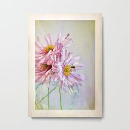 """Party Dress"" japanese Anemone Greeting Card Metal Print"