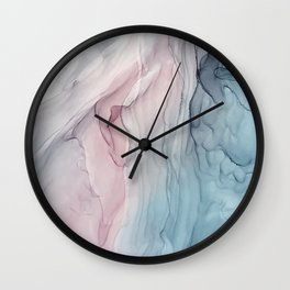 Calming Pastel Flow- Blush, grey and blue Wall Clock