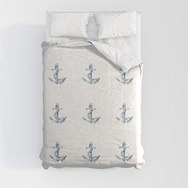 Nautical Seafarer Anchor Retro Seamless Pattern Comforters