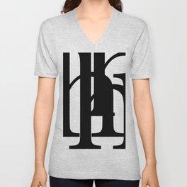 Hidden Letters. Baskerville H Unisex V-Neck