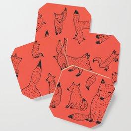 Orange foxes Coaster