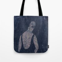 yoga Tote Bags featuring yoga by Maybe Mary