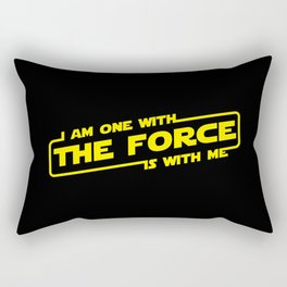 i am one with the force the force is with me Rectangular Pillow