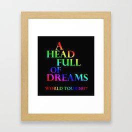 A head full of dreams Framed Art Print