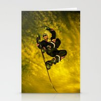 snowboarding Stationery Cards featuring Snowboarding #1  by Bruce Stanfield