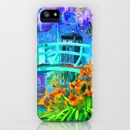 Tardis Art And The Bridge iPhone Case