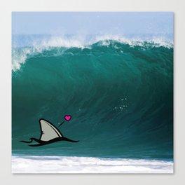 Shark-Filled Heart Canvas Print