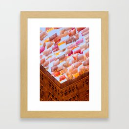 Colorful Tea Towels in the Wind Framed Art Print