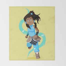 Little Warriors: Korra Throw Blanket