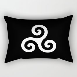 Triskele 10 -triskelion,triquètre,triscèle,spiral,celtic,Trisquelión,rotational Rectangular Pillow