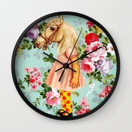 Pony Girl Wall Clock