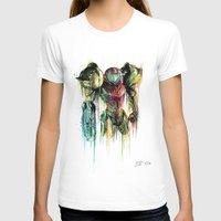 samus T-shirts featuring Samus Aran by David Lakin