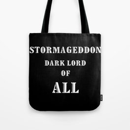Doctor Who Stormageddon Dark Lord of All Tote Bag