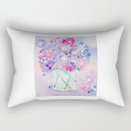 Vase of Wildflowers Rectangular Pillow