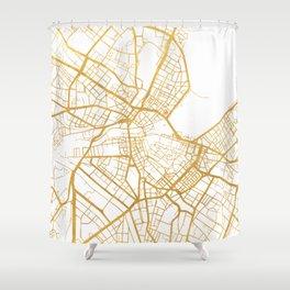 GENEVA SWITZERLAND CITY STREET MAP ART Shower Curtain