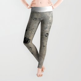 Abstract vintage black gray ivory marble Leggings