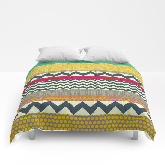 New York Beauty stripe Comforters