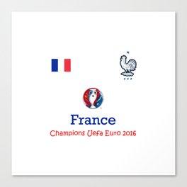 Champion Uefa Euro 2016 France Canvas Print