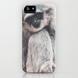 Silvery Gibbon iPhone Case