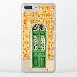 Portuguese Door Clear iPhone Case