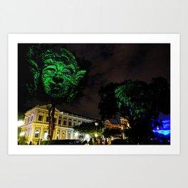Buddha in the Night Art Print
