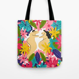 Couple Flowes Tote Bag