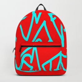 Red blue turquoise gar Backpack