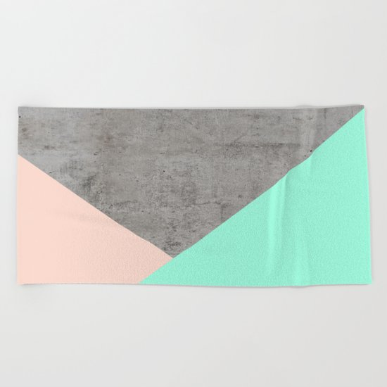 Concrete Collage Beach Towel