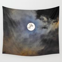 lunar Wall Tapestries featuring Lunar Light by DomaniDream