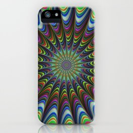 Psychedelic star iPhone Case