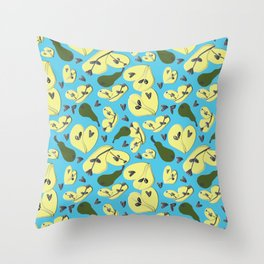 Pearry Blue Throw Pillow