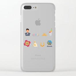 Poker, Cash & Partying Nevada Day Clear iPhone Case