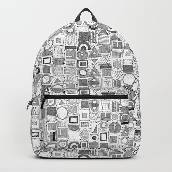 frisson memphis black white Backpack