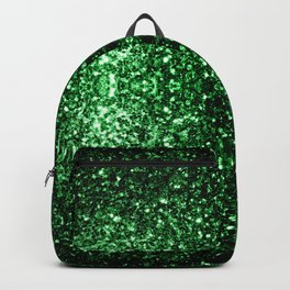 Glamour Dark Green glitter sparkles Backpack