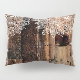 rustic country farmhouse chic vintage lace barnwood Pillow Sham