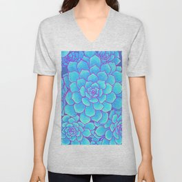 An Ocean of Succulents Unisex V-Neck