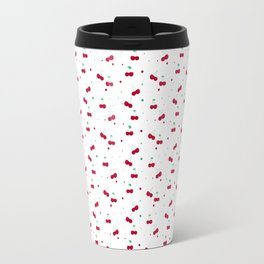 Cherries Love Pattern Travel Mug
